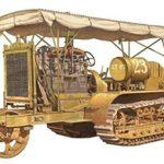 アメリカ ホルト社 【砲兵牽引トラクター】 【プラモデル】 ―第一戦車式―